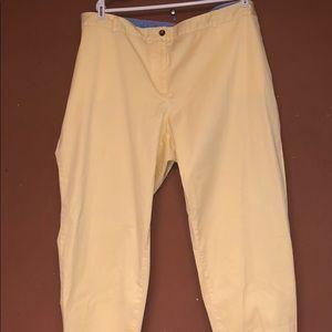 Talbots Yellow Pants Size 24 W NWT New